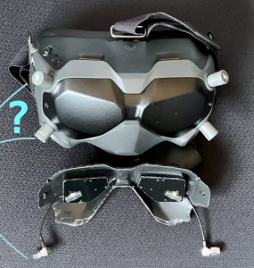 DJI goggles directional top or bottom